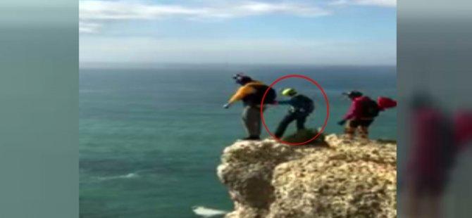 Paraşütü açılmayan turist 90 metreden böyle yere çakıldı