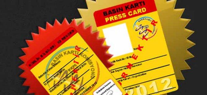 2019 yılı basın kartı için başvuru süreci başlıyor