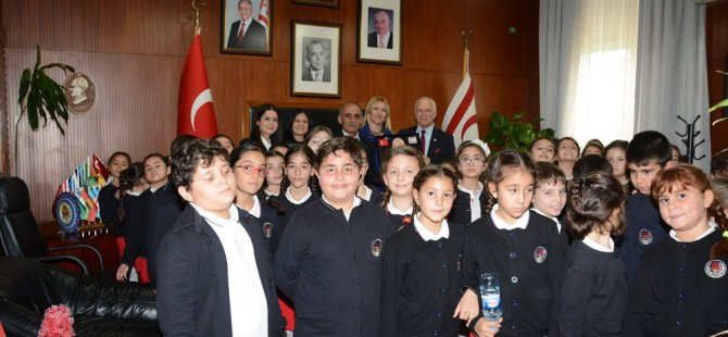 Ted Kuzey Kıbrıs Koleji ilköğretim öğrencileri Töre'yi ziyaret etti