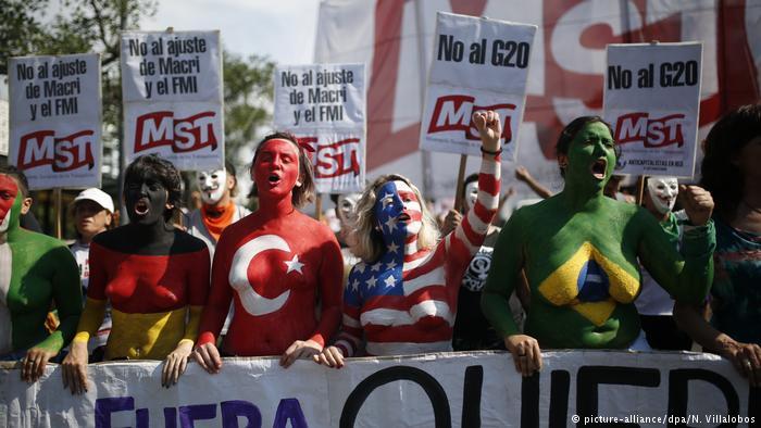 G20 protestoların gölgesinde yapılıyor