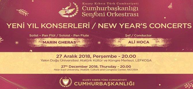 """""""Yeni Yıl Konserleri"""" sanatseverlerle buluşuyor"""