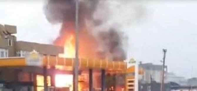 Şanlıurfa'da akaryakıt istasyonunda patlama!