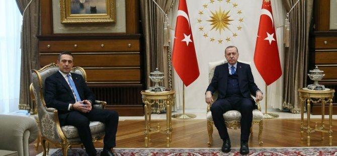 Cumhurbaşkanı Recep Tayyip Erdoğan, Ali Koç'u kabul etti