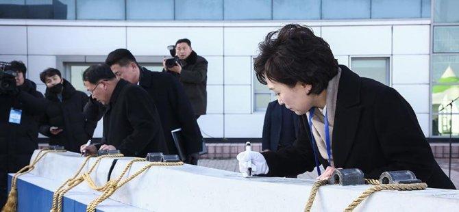 Kuzey ve Güney Kore tren hatlarıyla birleşiyor (VIDEO HABER)