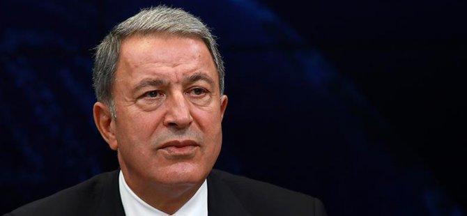 """TC Milli Savunma Bakanı Akar: """"Kıbrıs'taki sorunların diyalogla çözülmesi için çalışıyoruz"""""""