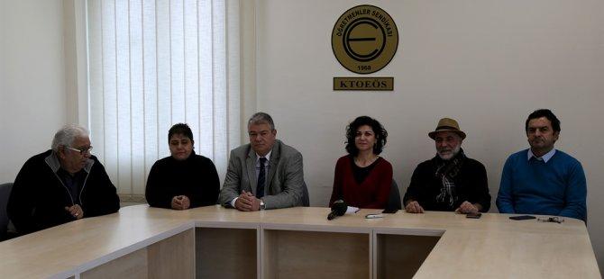 Birleşik Kıbrıs Partisi heyeti, KTOEÖS'ü ziyaret etti