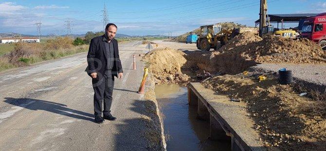 Sadıkoğlu, İskele-Karpaz anayolunda inceleme yaptı