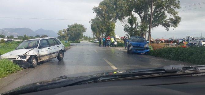 Haspolat'ta trafik çarpışması