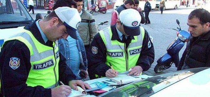Trafik kontrollerinde 340 sürücü rapor edildi