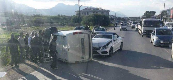 Çatalköy'de trafik çarpışması