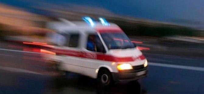 Girne'de 3 yaşında çocuk merdivenden düştü ağır yaralandı