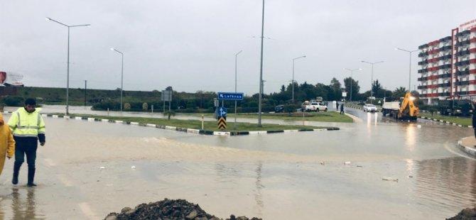 Güzelyurt'ta Manisa Bulvarı trafik akışına kapatıldı