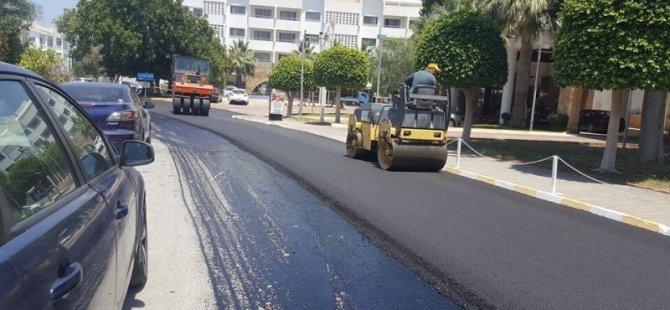 Girnede hafta sonu asfalt çalışması yapılacak