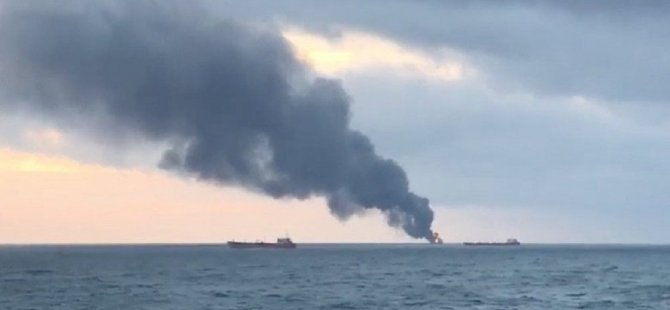 Kerç Boğazı'nda alev alan gemilerin sahiplerinin Türk olma ihtimali var