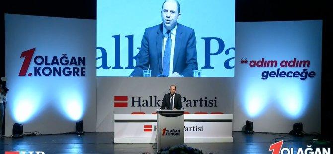 Özersay, HP 1. Olağan Kongresi'nde konuştu (VİDEO HABER)