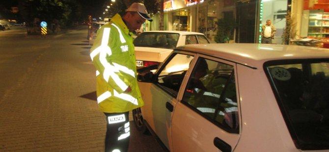 Polisten asayiş ve trafik denetimi...