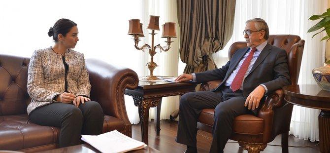 Akıncı, İçişleri Bakanı Baybars'ı kabul etti