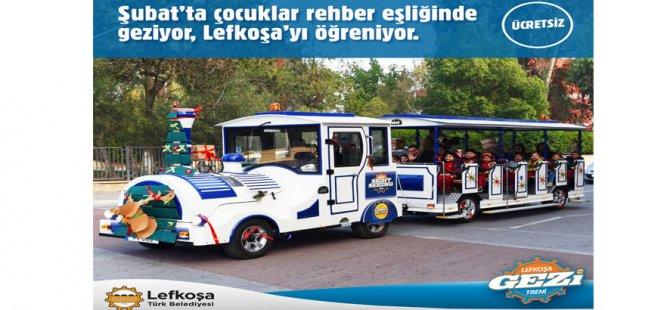 Çocuklar Şubat Tatili'nde Lefkoşa'yi Gezi Treniyle ücretsiz gezebilecek