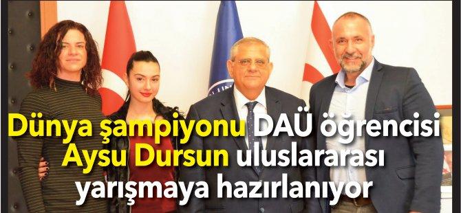 Dünya şampiyonu DAÜ öğrencisi Aysu Dursun uluslararası yarışmaya hazırlanıyor