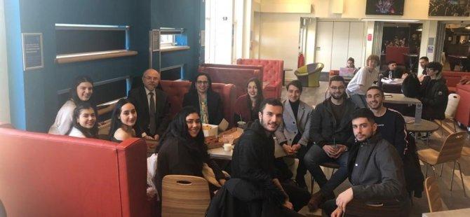KKTC Londra Temsilcisi  Kıbrıslı Türk öğrencileri ziyaret etti.