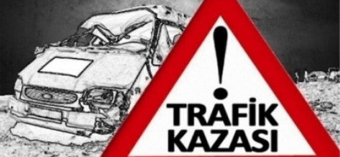 Lefkoşa-Güzelyurt Anayolu'nda kaza: 1 kişi yaralandı!