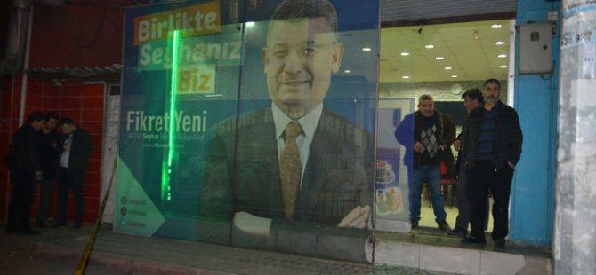AKP Seçim Bürosuna Molotoflu saldırı