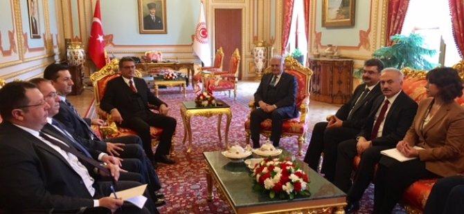 Başbakan Erhürman TBMM Başkanı Yıldırım'ı ziyaret etti