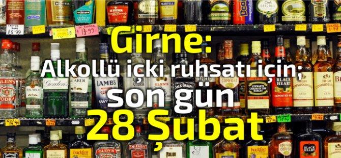 Alkollü içki satışı ruhsatı için, son gün 28 Şubat