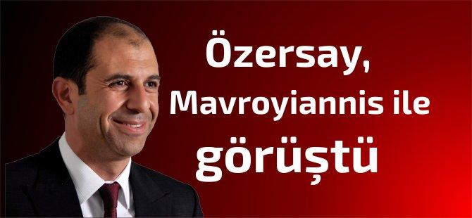Özersay,Kıbrıslı Rum müzakereci Mavroyiannis ile görüştü