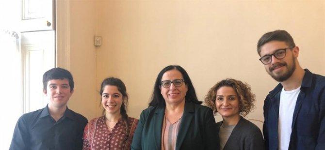 BK-KTÖF heyeti KKTC Londra temsilcisi büyükelçi Tuncalı'yı ziyaret etti
