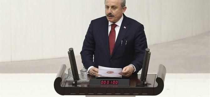 TBMM Başkanı Şentop Esenboğa'da basın toplantısı düzenledi