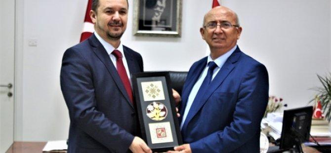 Özyiğit, Kuzey Makedonya Cumhuriyeti Eğitim ve Bilim Bakanlığı Müsteşarı Husejin'i kabul etti