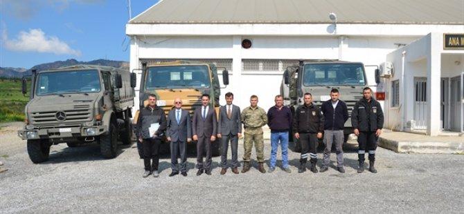 GKK, Sivil Savunma Teşkilatı Başkanlığına 3 adet Unimog araç hibe etti