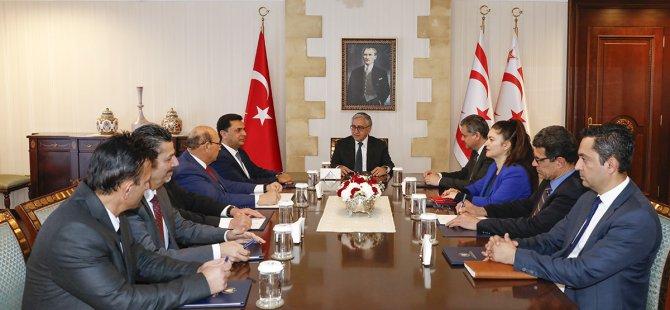 Cumhurbaşkanlığı'nda elektrik şebekelerinin sürekli bağlantısı konusunda toplantı yapıldı