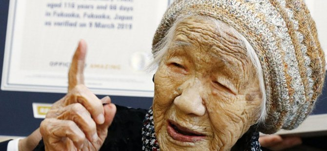 Dünyanın en yaşlısı yine Japonya'dan