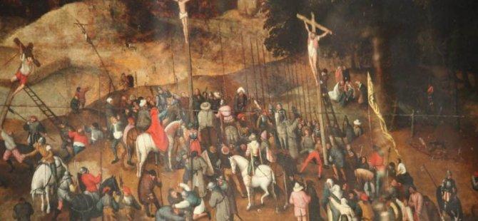 Kiliseden tablo çaldılar ama tablo sahte çıktı