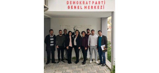 KTOEÖS yetkilileri Demokrat Parti'yi ziyaret etti