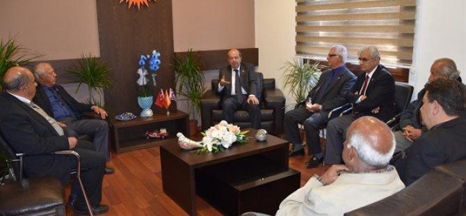 UBP Genel Başkanı Ersin Tatar TMT Mücahitler derneği heyetini kabul etti