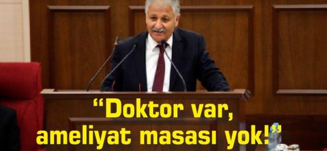 """UBP Güzelyurt Milletvekili Ali Pilli """"Doktor var, ameliyat masası yok!"""""""