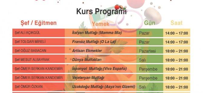 DAÜ-SEM ile Turizm Fakültesi'nden yemek kursları