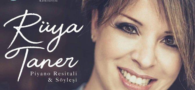 Ülkemizin dünyaca ünlü piyanisti Rüya Taner Gazimağusa'da piyano resitali verecek