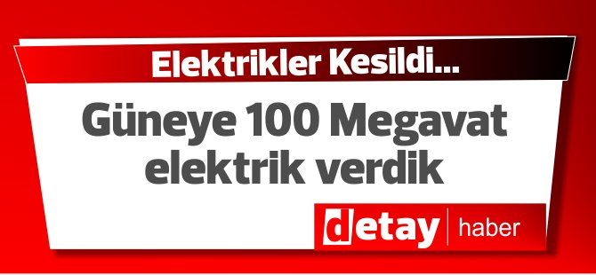 Güney Kıbrıs'a 100 Megavatlık elektrik verdik