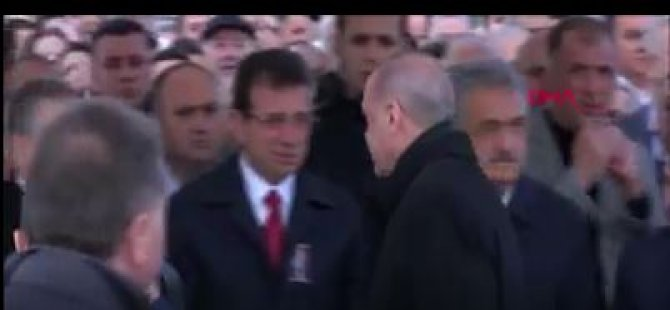 Erdoğan, Cenaze töreninde de İmamoğlu'nun elini sıkmadı