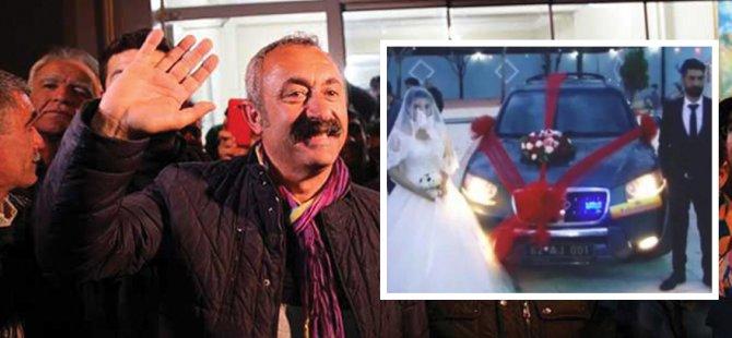 Makam aracını 'Düğün Arabası' yaptı