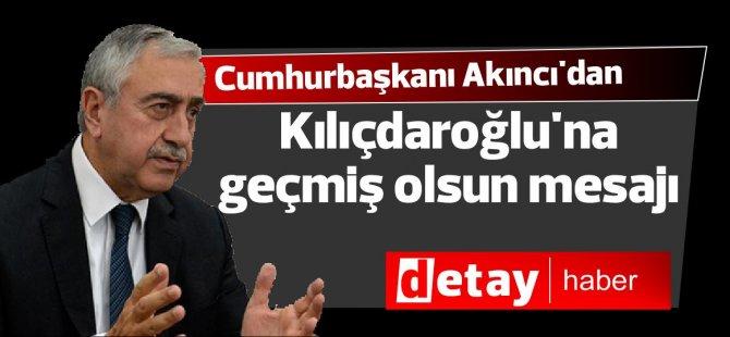 Cumhurbaşkanı Akıncı'dan Kılıçdaroğlu'na geçmiş olsun mesajı