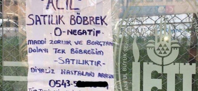 Türkiye ekonomisi gelişiyor: Sahibinden satılık böbrek ilanı