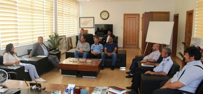 Arter, belediyede örgütlü Mağusa Türk Genel İş Sendikası önetimiyle görüştü