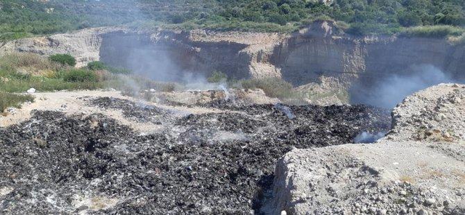 Dipkarpaz- Y.Erenköy Arası Çöplerin Döküldüğü Bölge Günlerdir Yanarak, Zehir Saçıyor.
