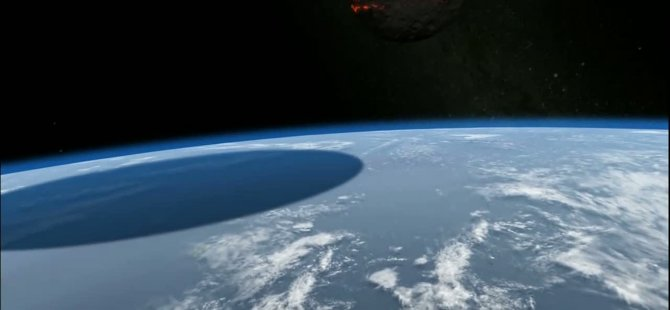Dünya'ya 500 Kilometre Çapında Bir Göktaşı Çarparsa Ne Olacağını Gösteren Video