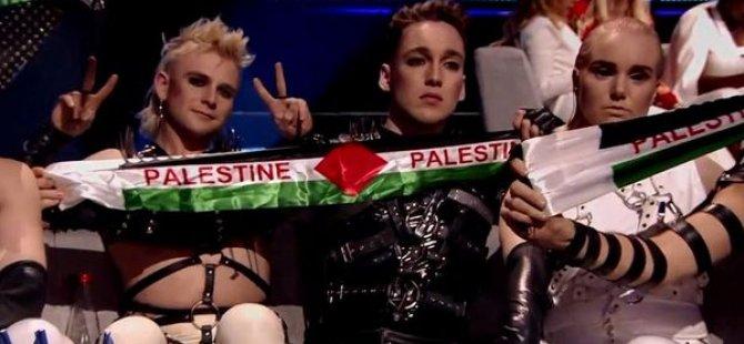 İsrail'deki Eurovision finalinde Filistin protestoları